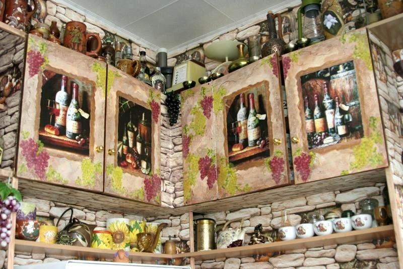 Декупаж кухонный гарнитур своими руками фото 676