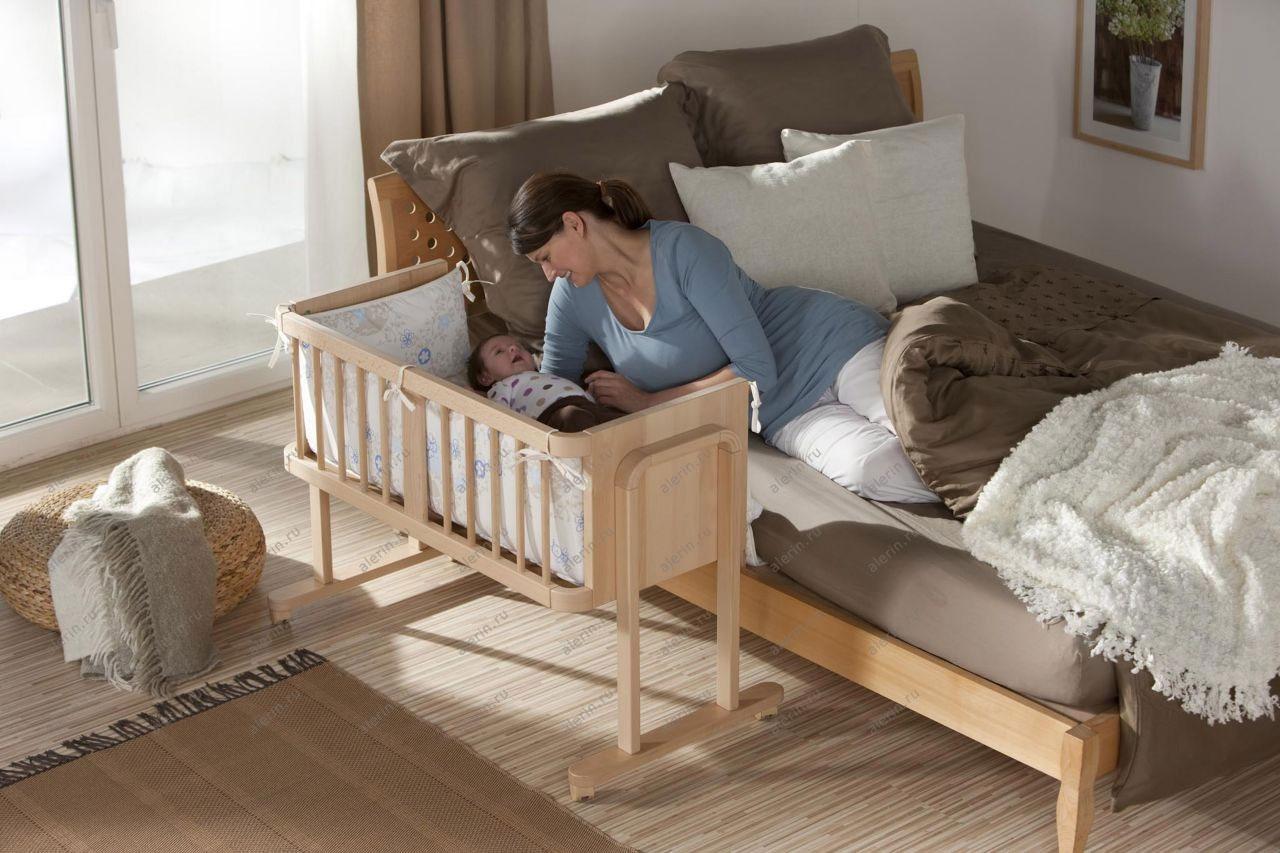 Кроватки приставные для новорожденных своими руками 56