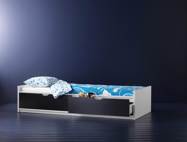 Детская раздвижная кровать ikea металлическая для детей leksvik