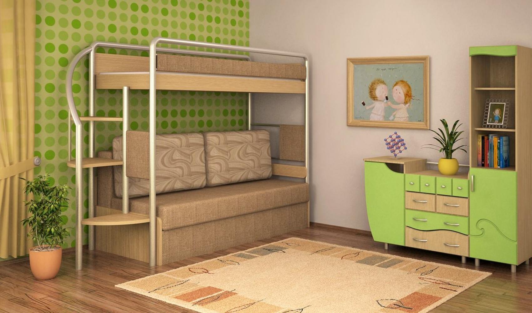 детские двухъярусные кровати с диваном 65 фото двухъярусная