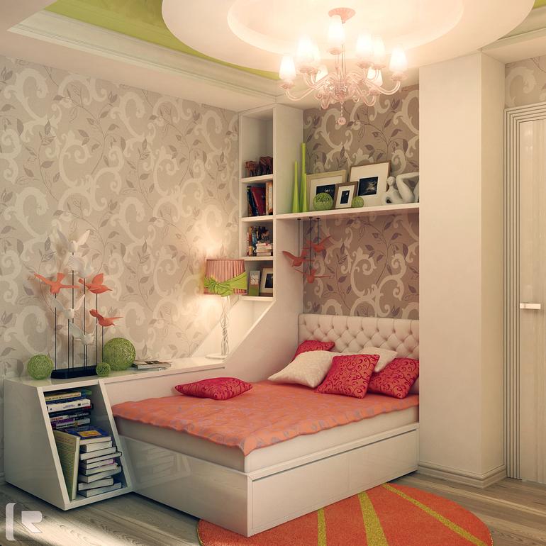 Дизайн подростковой комнаты для девочки 10 кв.м