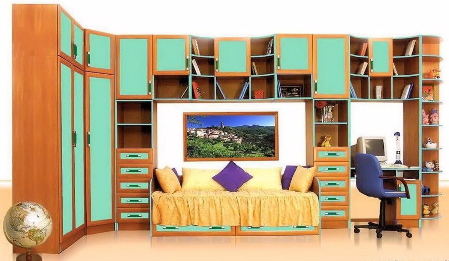 Детские стенки с кроватью (67 фото): модульные спальные гарн.