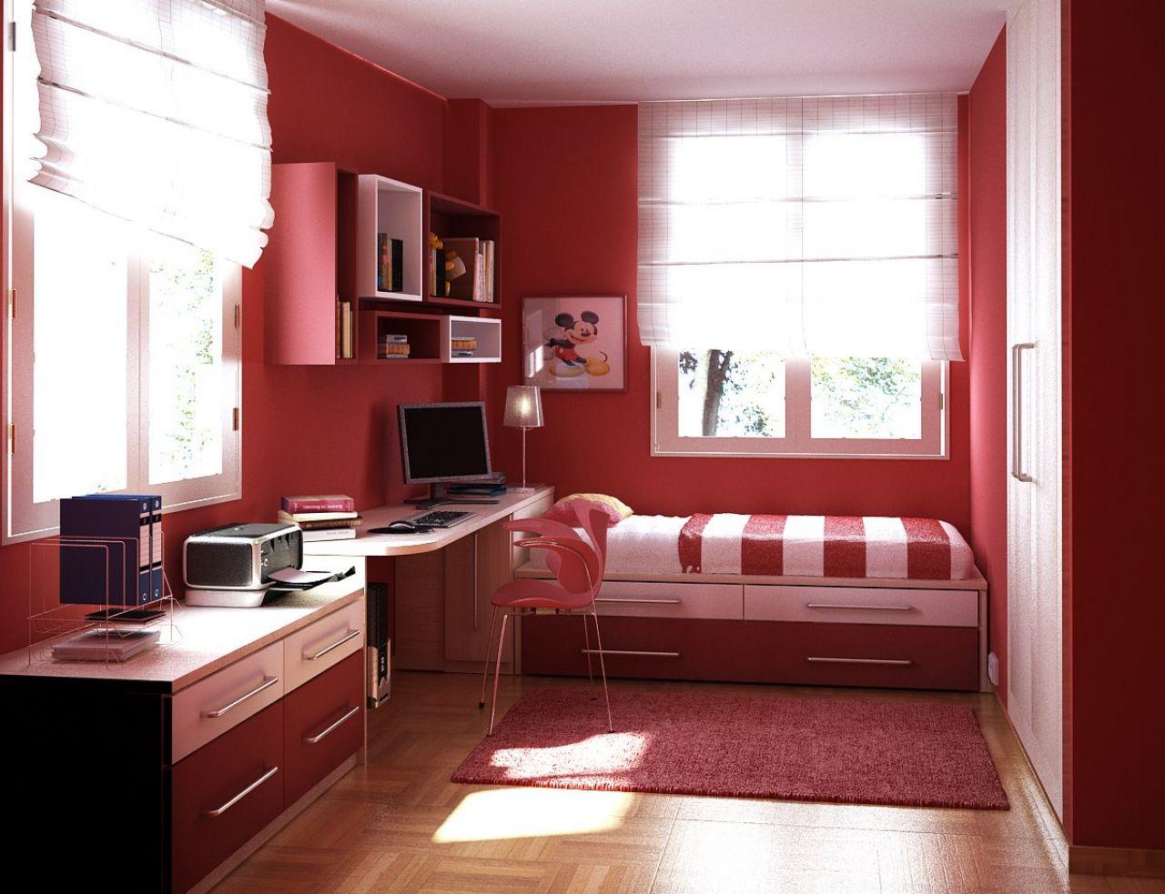 Дизайн спальни для девочки подростка в маленькой