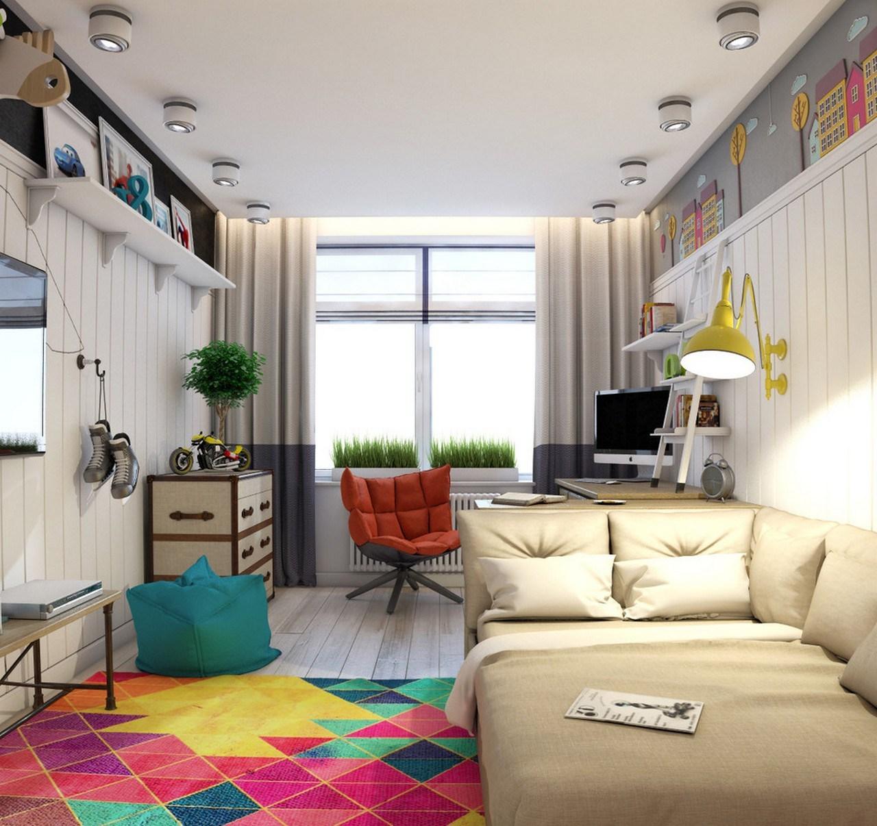 Творческий дизайн комнат для подростков.