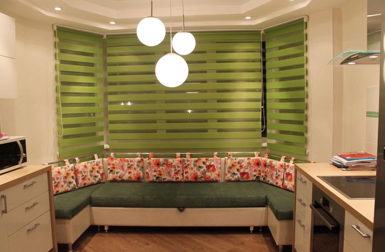 Эркерный диван на кухню своими руками 46