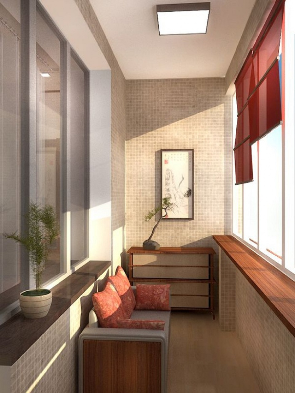 Отделка балкона внутри: фото-идеи оригинальных решений 76