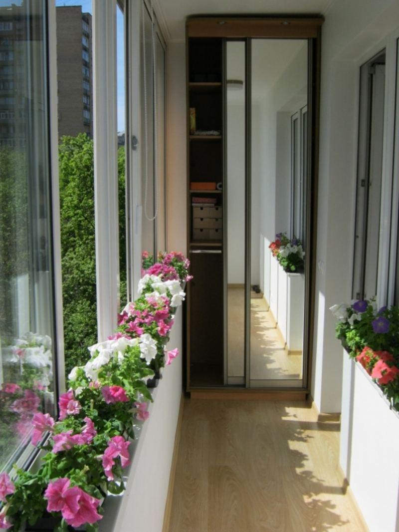 Дизайн для узких балконов
