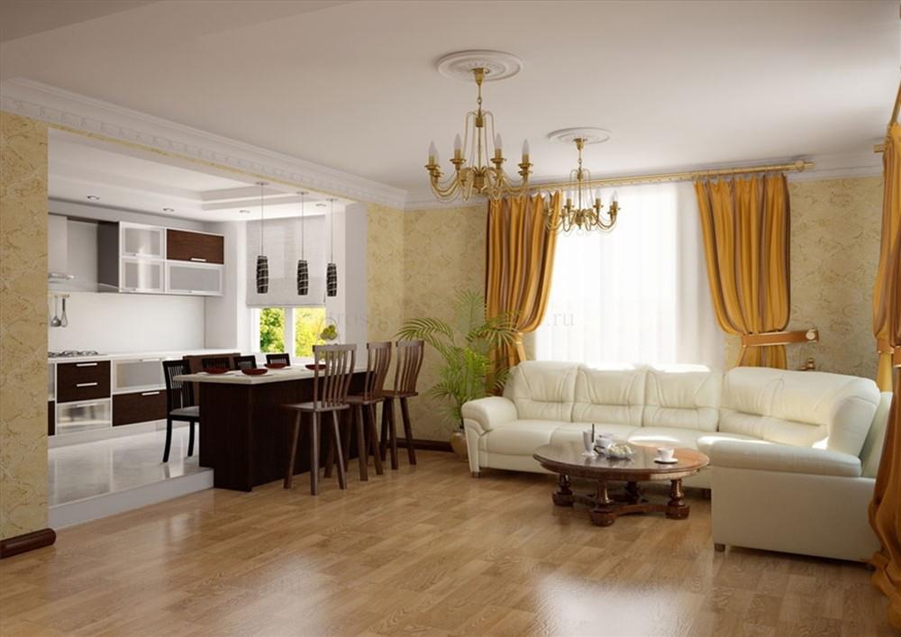 кухня совмещенная с гостиной дизайн фото 7