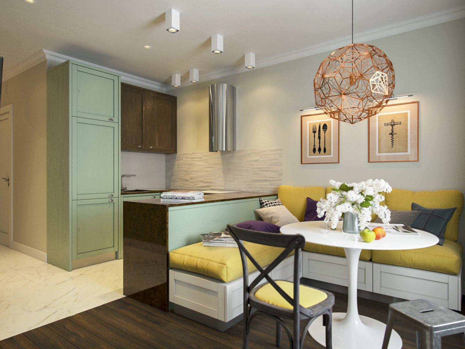 кухня-гостиная 15 квадратов дизайн фото