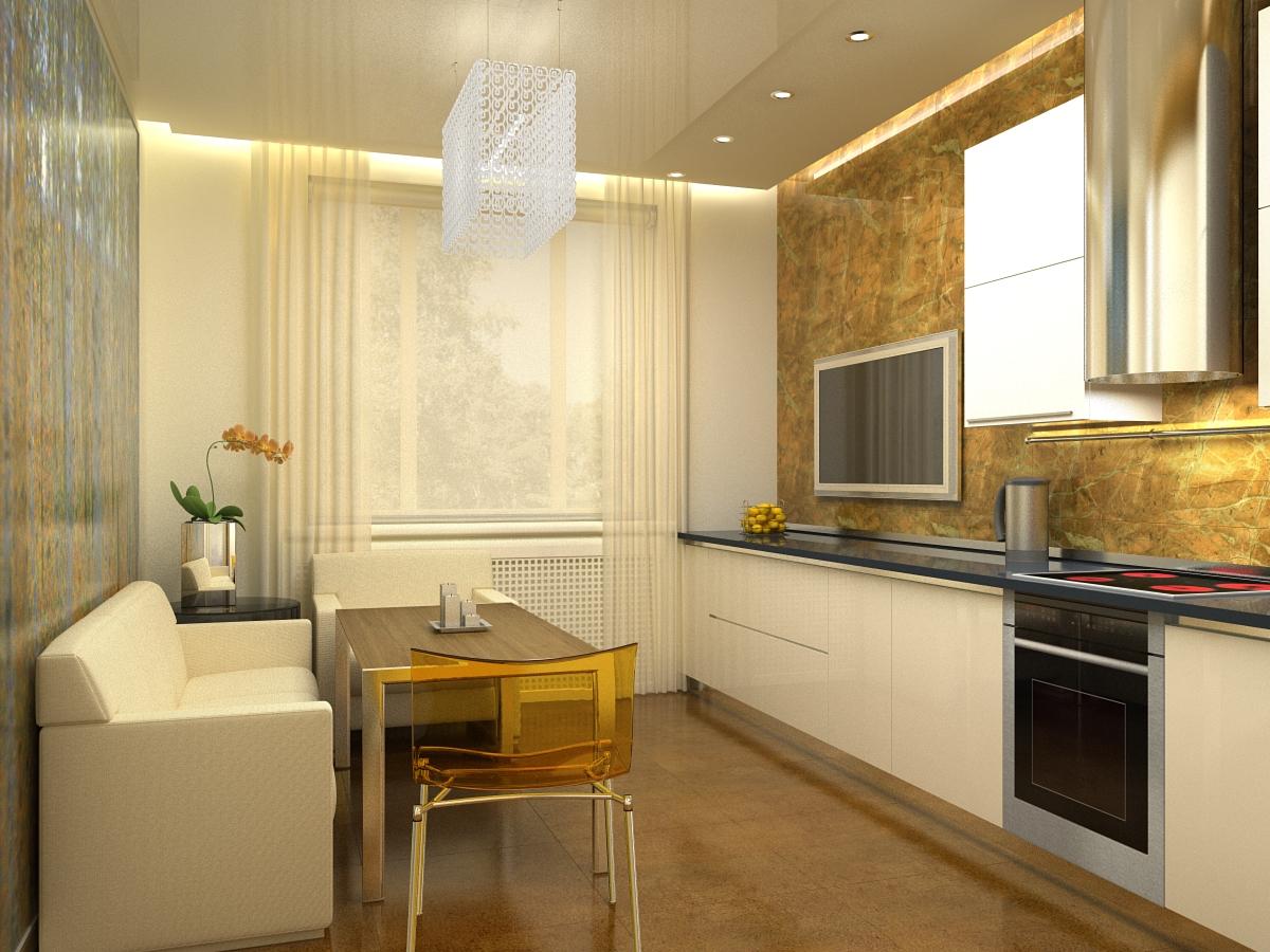 Дизайн кухни-гостиной 17 кв. м. (50 фото): интерьер совмещен.