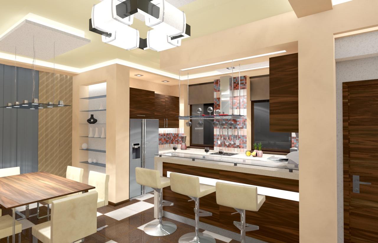 Дизайн барные стойки и фото с аркой Барная стойка в квартире: на кухне, в гостиной