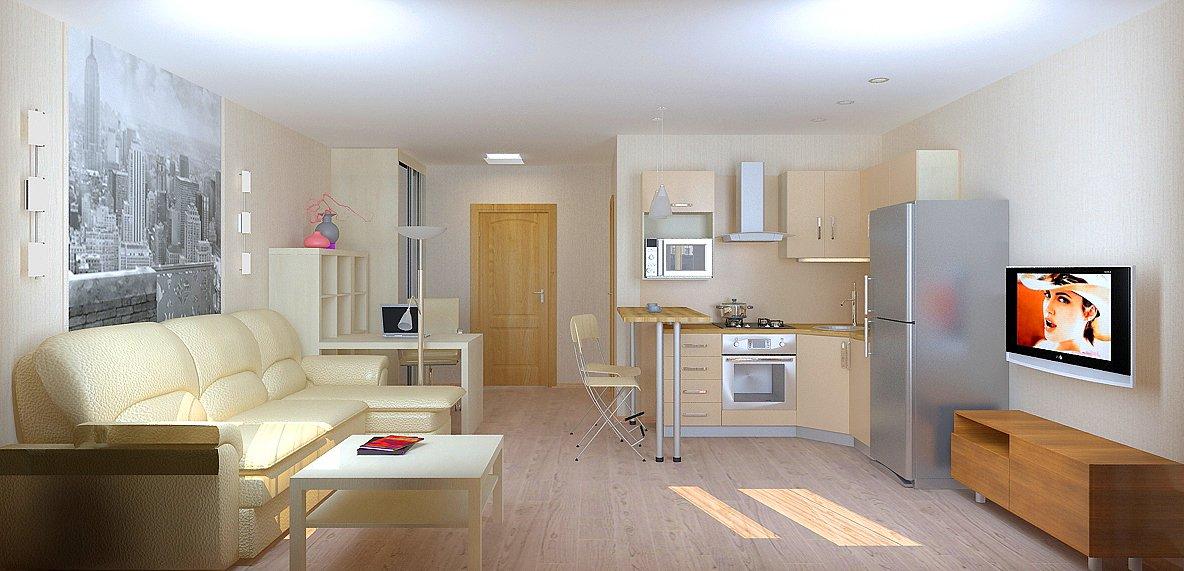 Дизайн квартиры-студии 21 кв.м
