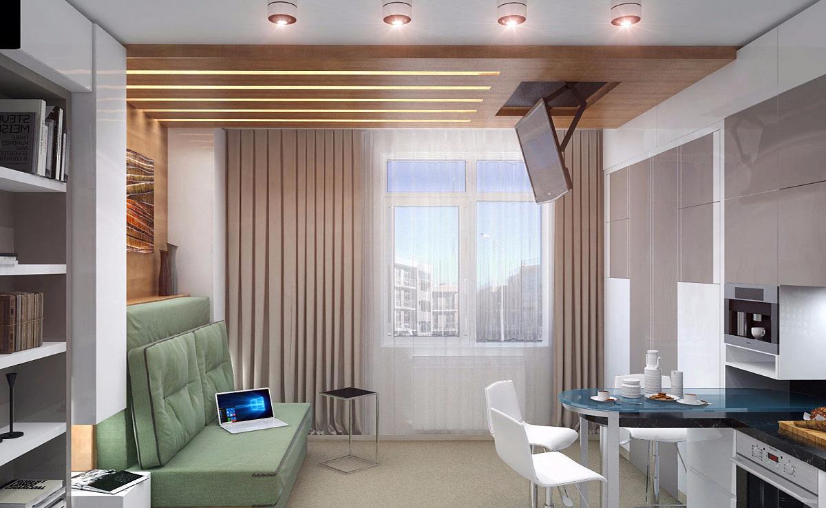 Идеи дизайна однокомнатной квартиры студии 25 фото