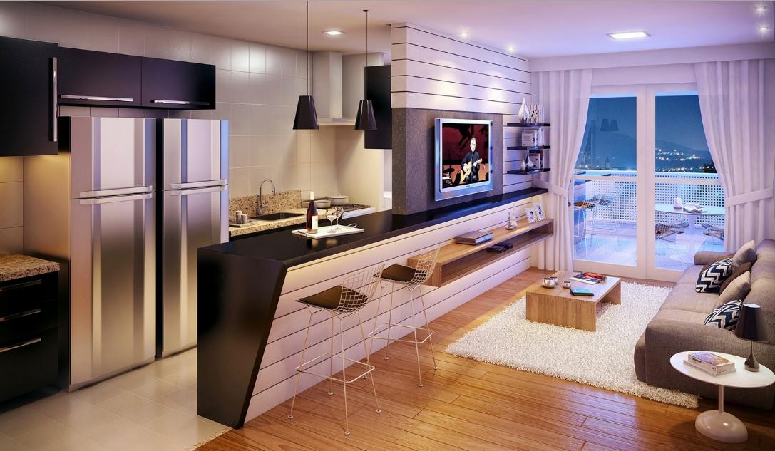 дизайн квартиры студии современные идеи 2019 50 фото кухня