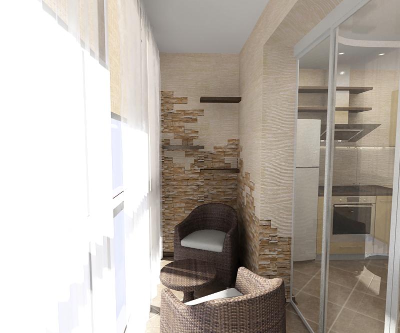 Дизайн лоджии, совмещенной с комнатой (48 фото): как сделать.