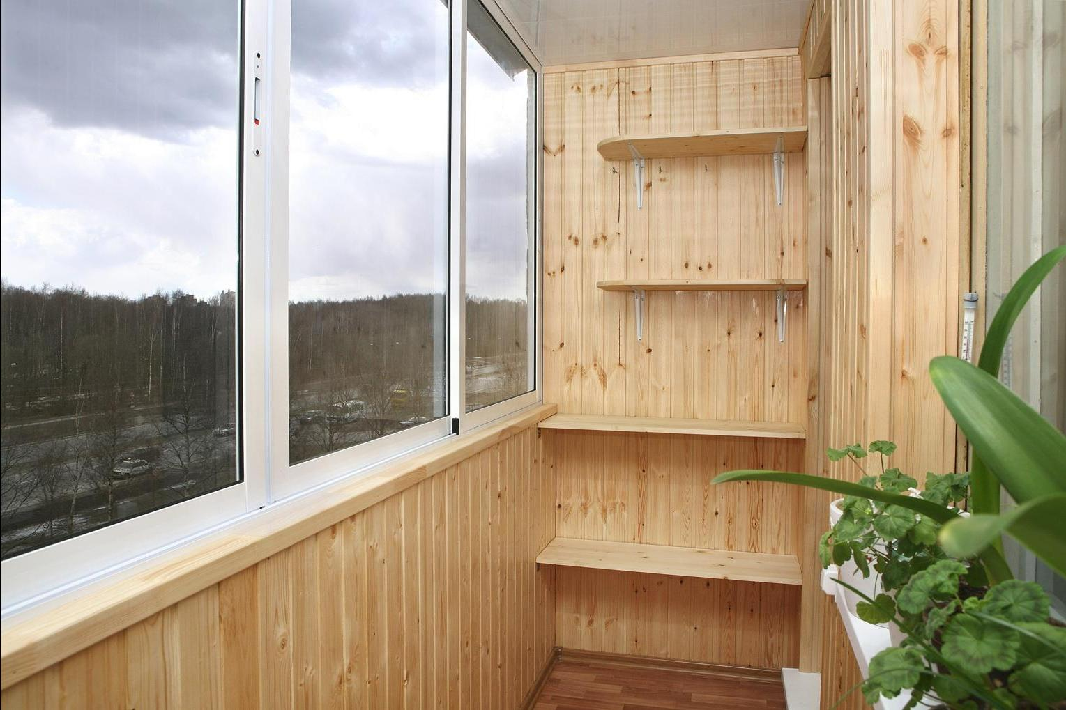 балкон дизайн вагонка 5