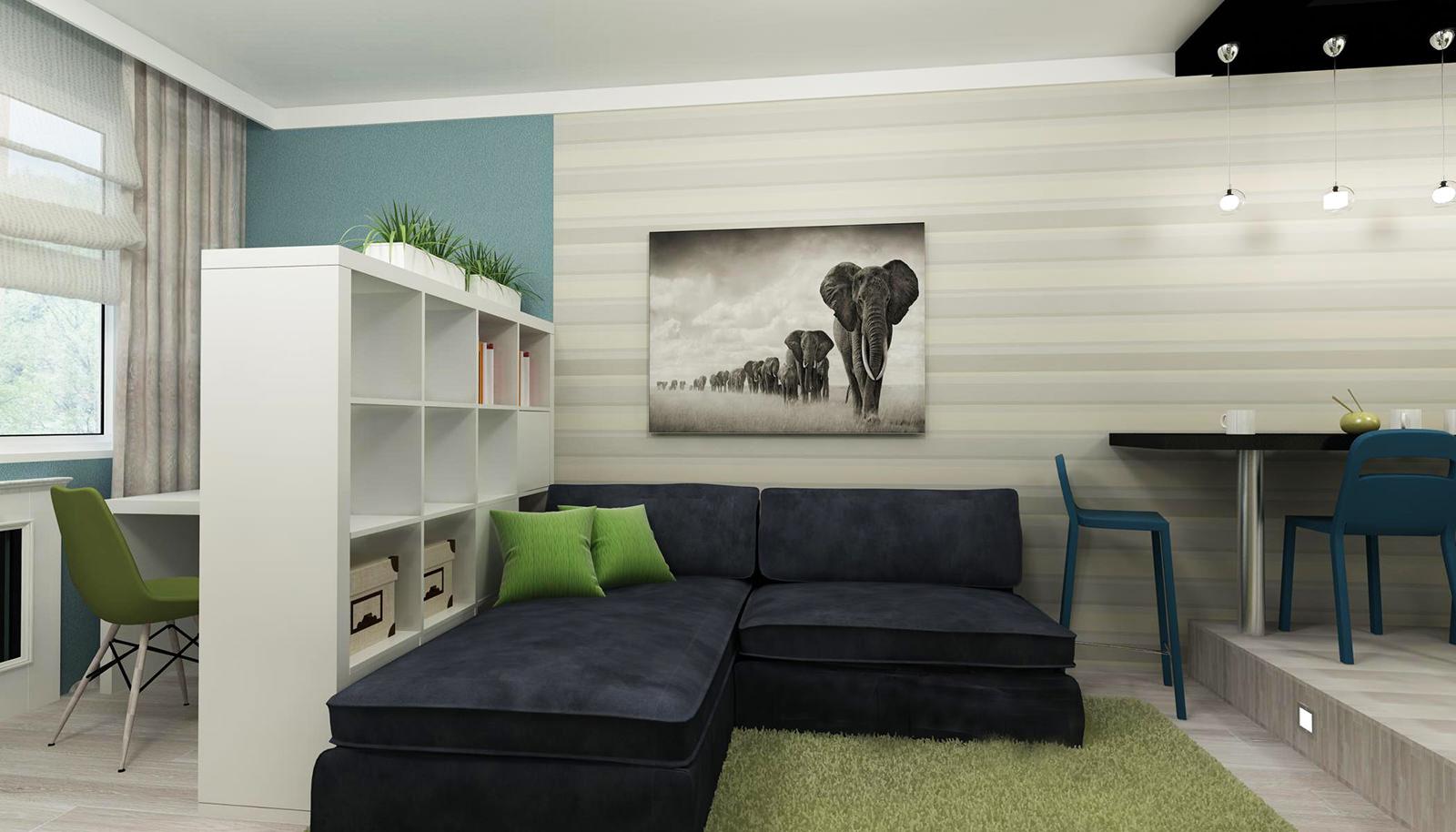 Интерьер дизайн маленькой квартир кухня студия фото 431