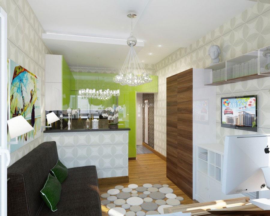 Квартиры студии 17 кв м дизайн 159