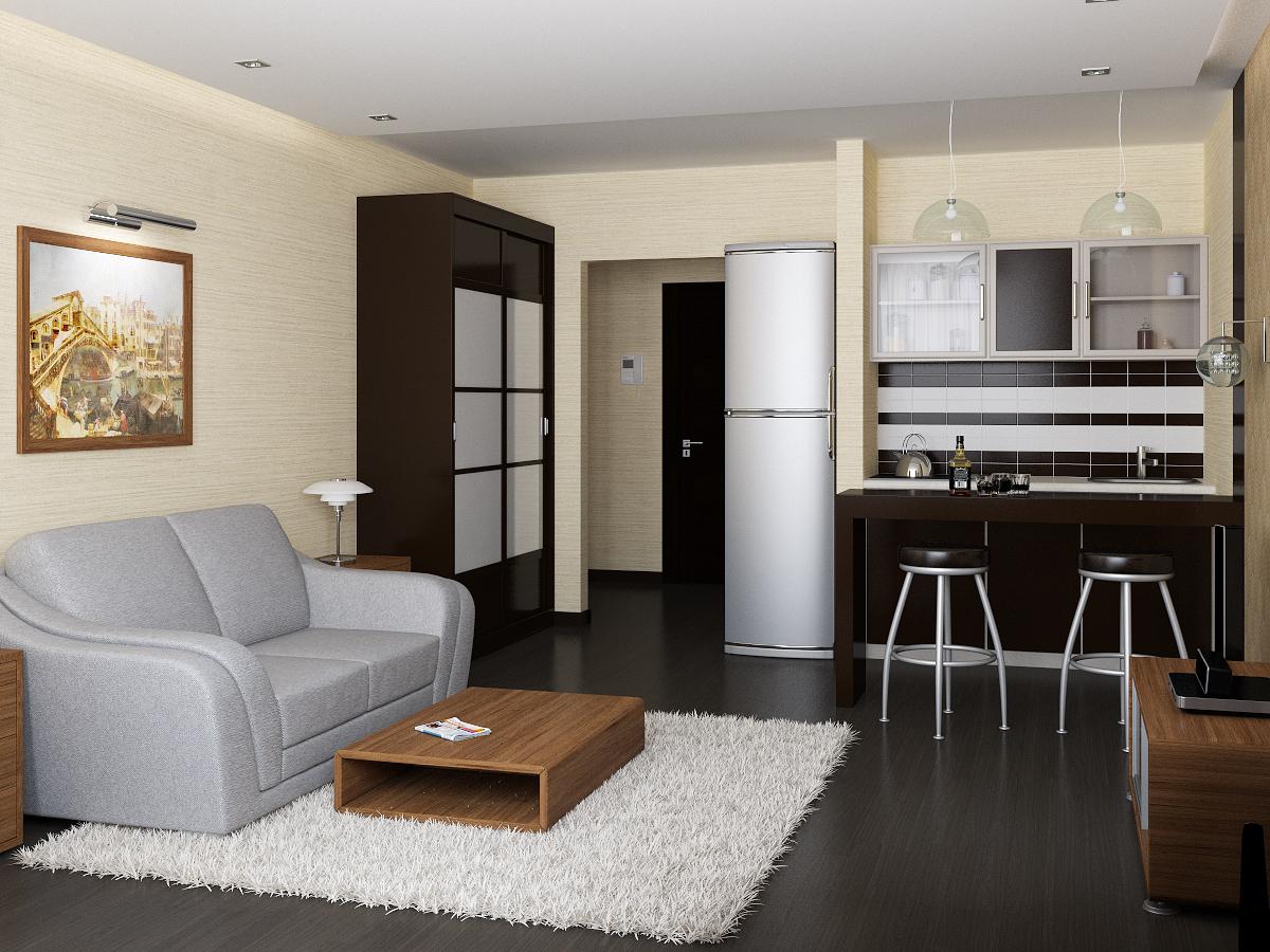 дизайн маленькой квартиры студии 60 фото идеи интерьера мини