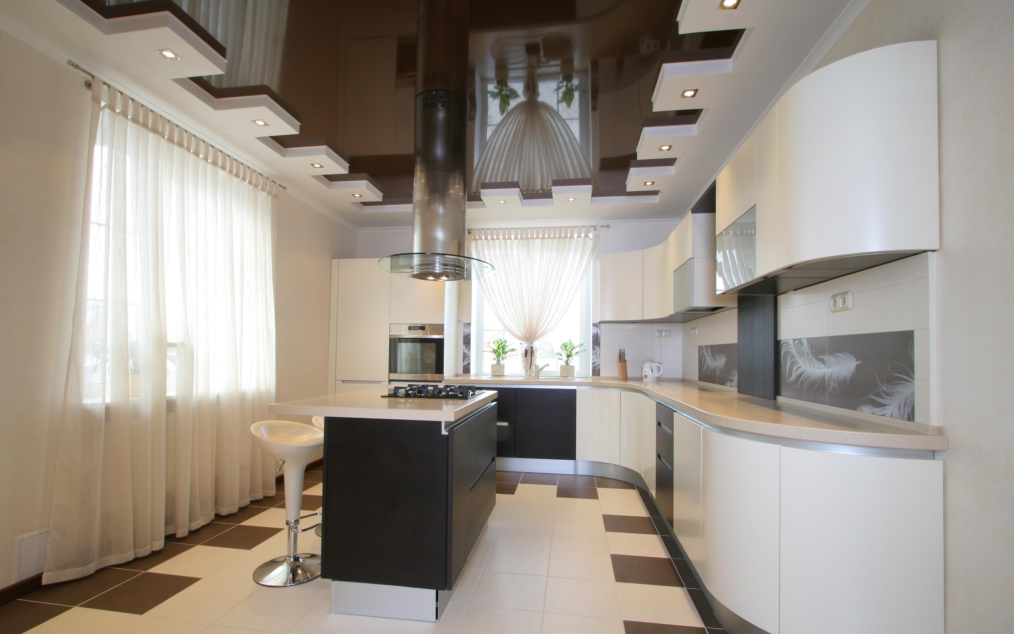потолки в кухне фото дизайн 3