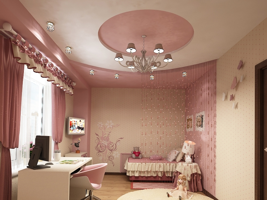 фото потолки для детской комнаты