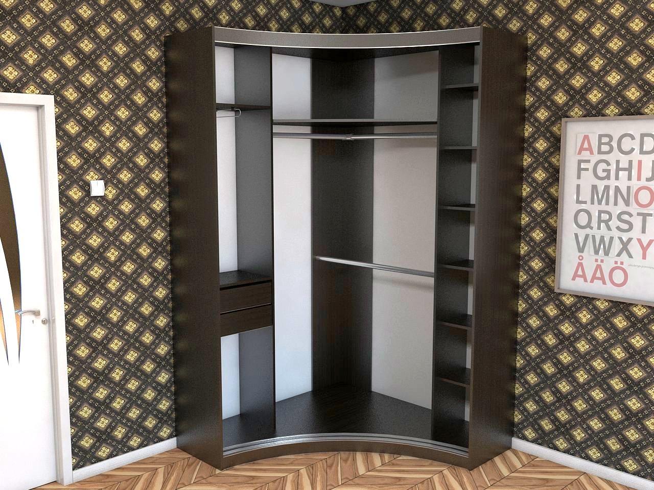 Угловой шкаф в прихожую, фото дизайн идеи.