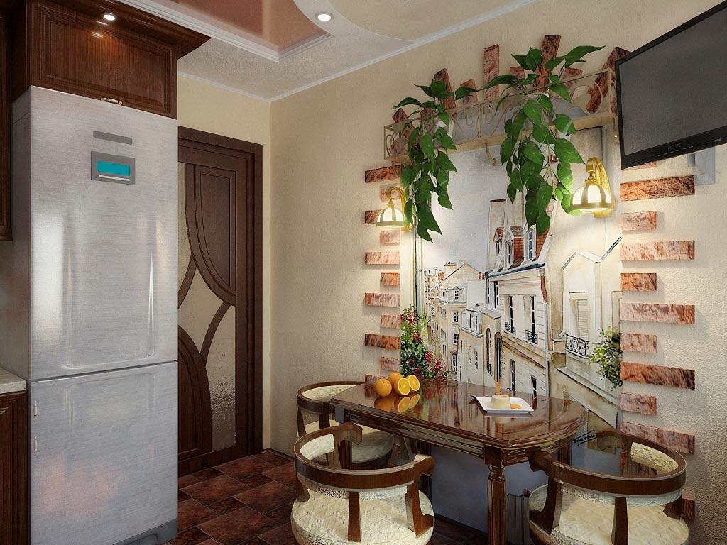 Фото дизайн стены над обеденным столом