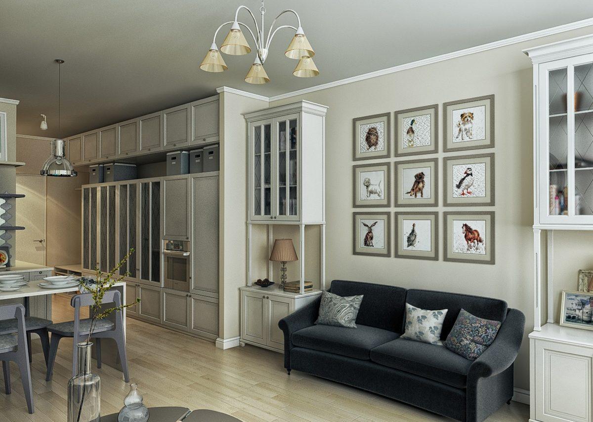 фото дизайна однокомнатных квартир в стиле прованс фото