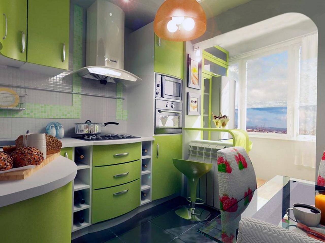 Дизайн малогабаритной кухни с балконом дизайн кухни - фото, .