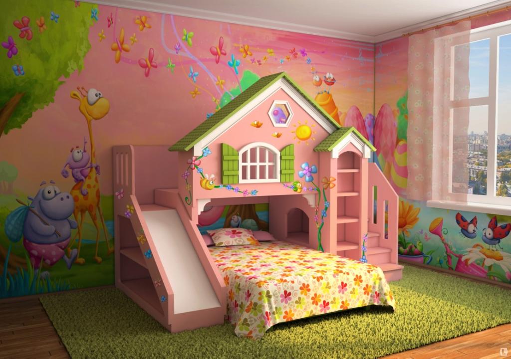 Дизайн детской кроватки девочки