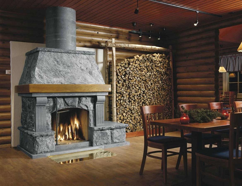 Варианты каминов для деревянного дома по типам топлива 68