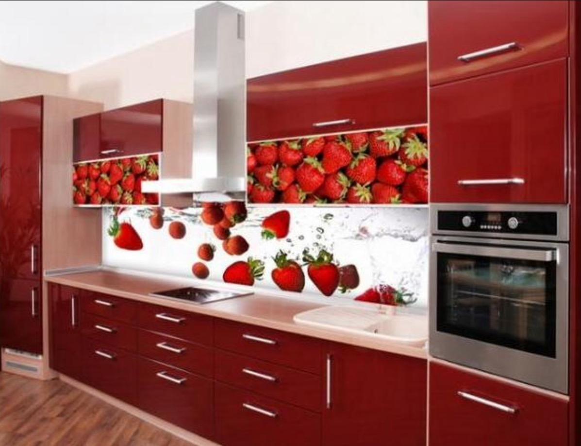 Галерея кухонь красного цвета, часть 3.