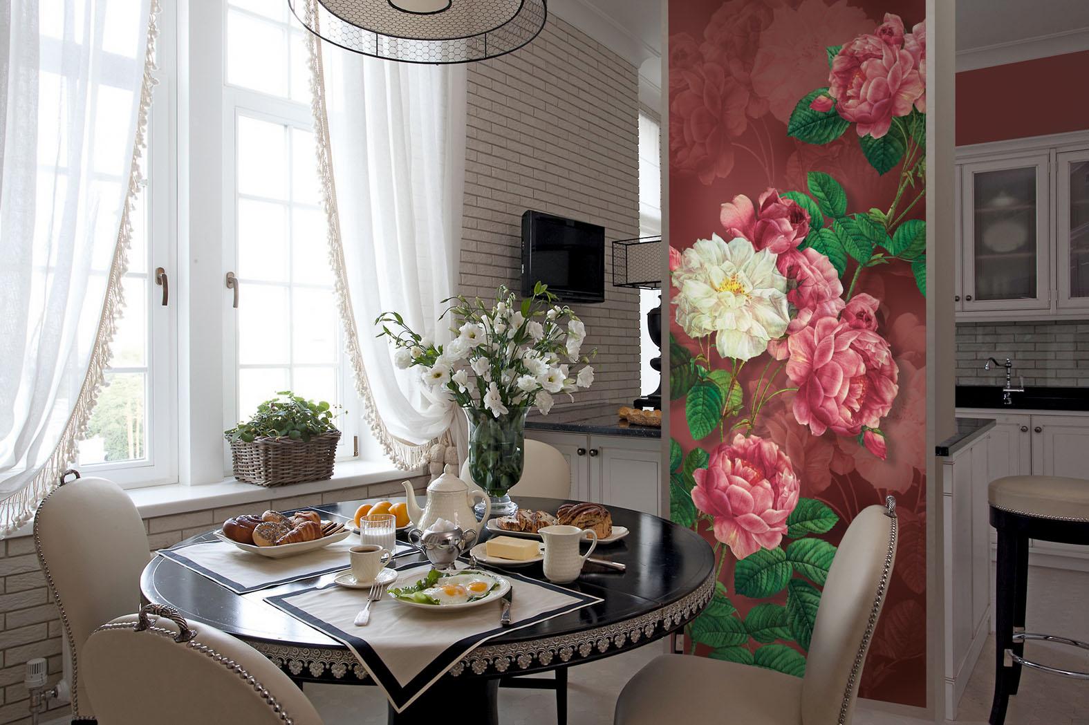 Цветок на стенку на кухню