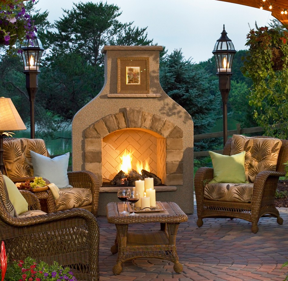 20 Cozy Outdoor fireplace ideas pictures