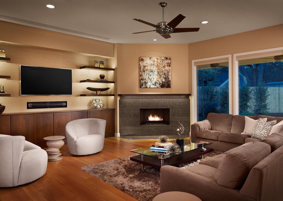 Телевизор над камином 47 фото декоративный электрокамин на одной стене с ТВ в интерьере гостиной и зала