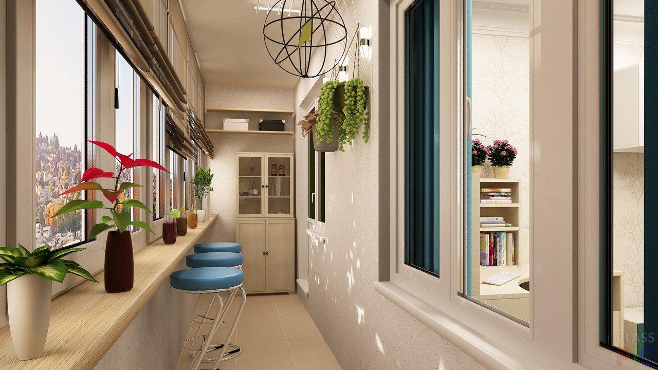 Дизайн балкона 2017 (109 фото): современные идеи интерьера к.