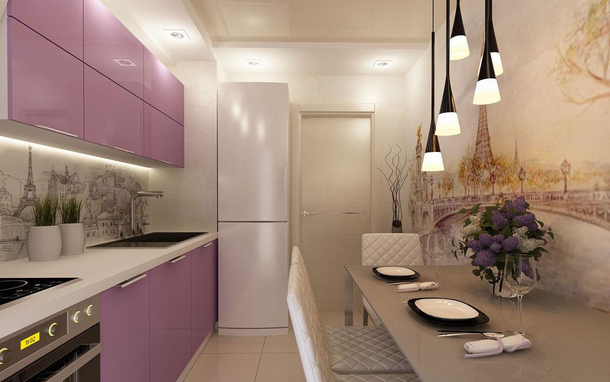 Дизайн кухни фото 2015 современные идеи 9 кв.м с холодильником