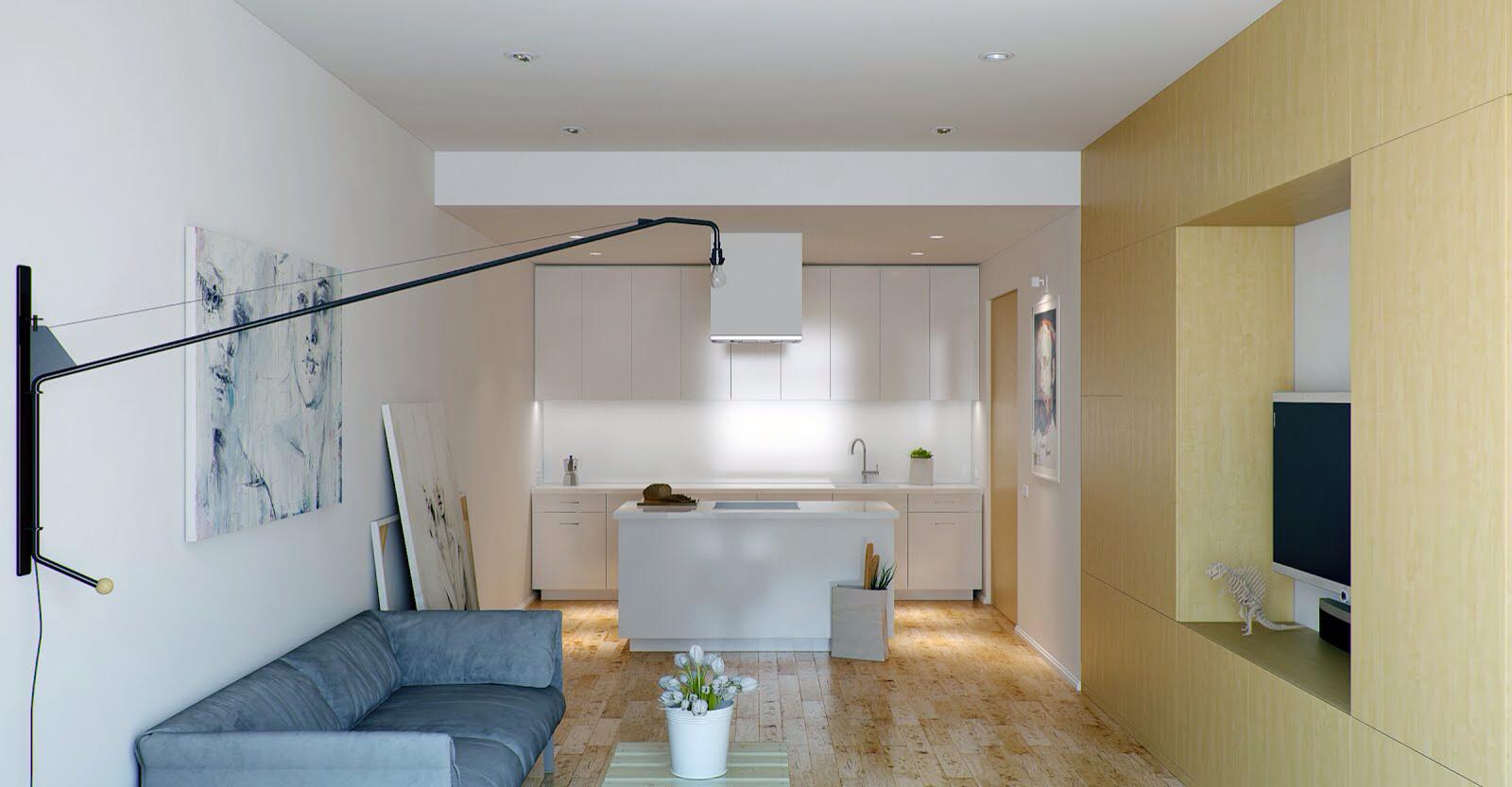 Дизайн квартиры-студии - 25 фото: интерьеры квартир-студий ...