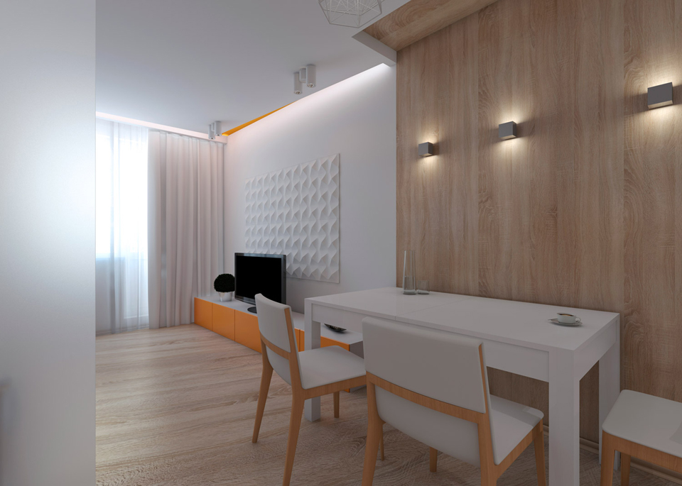 дизайн квартиры студии 26 кв м 2