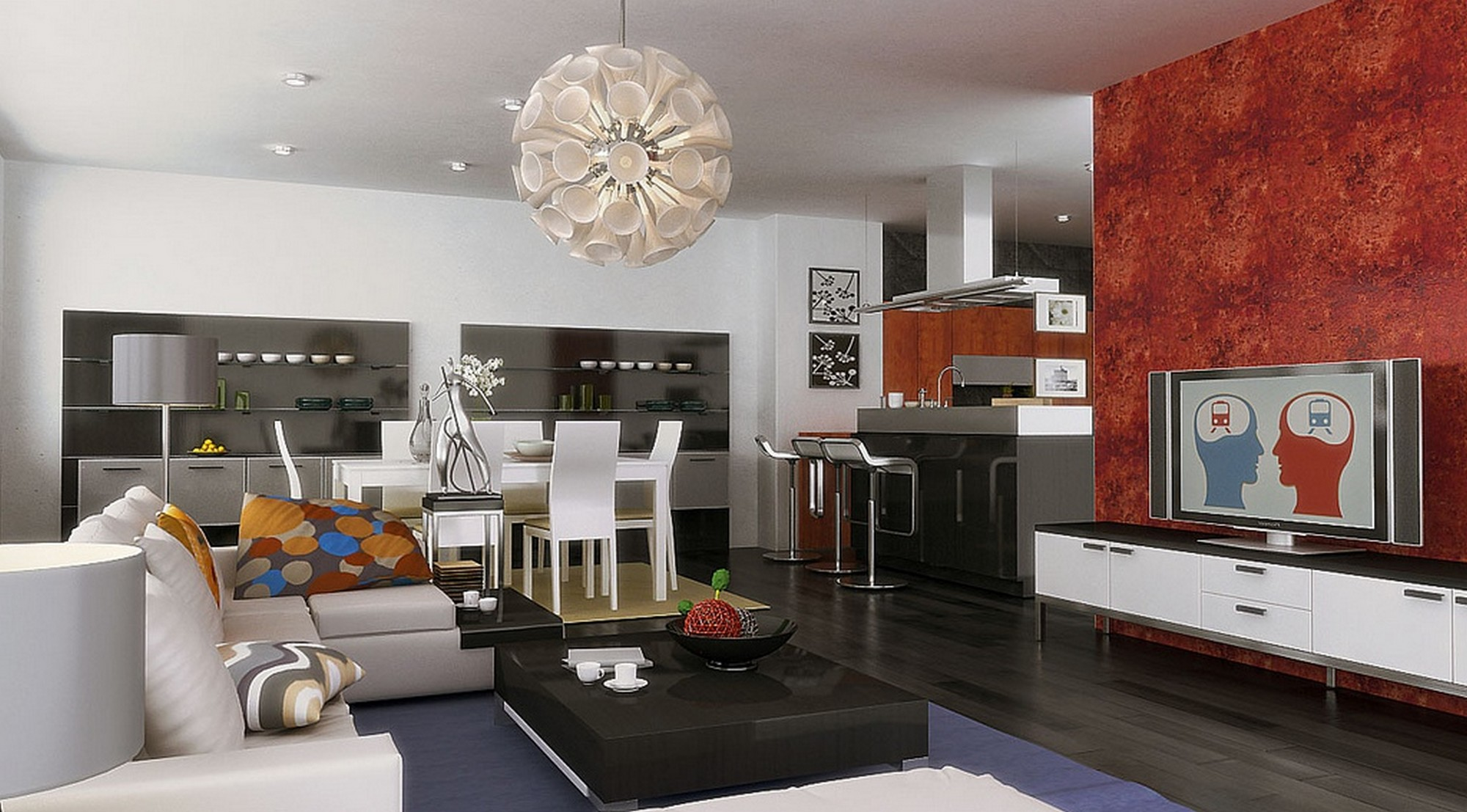 Contemporary living dining room design
