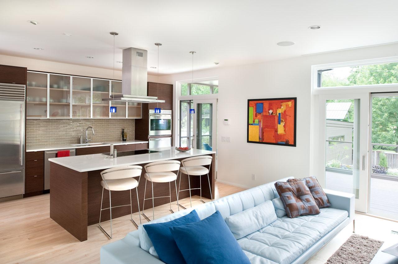 Фото дизайна кухни гостинной
