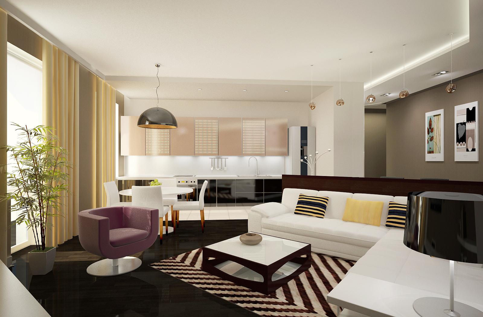 Современные дизайны квартиры кухня и гостиная Дизайн кухни, гостиной услуги дизайна домашнего