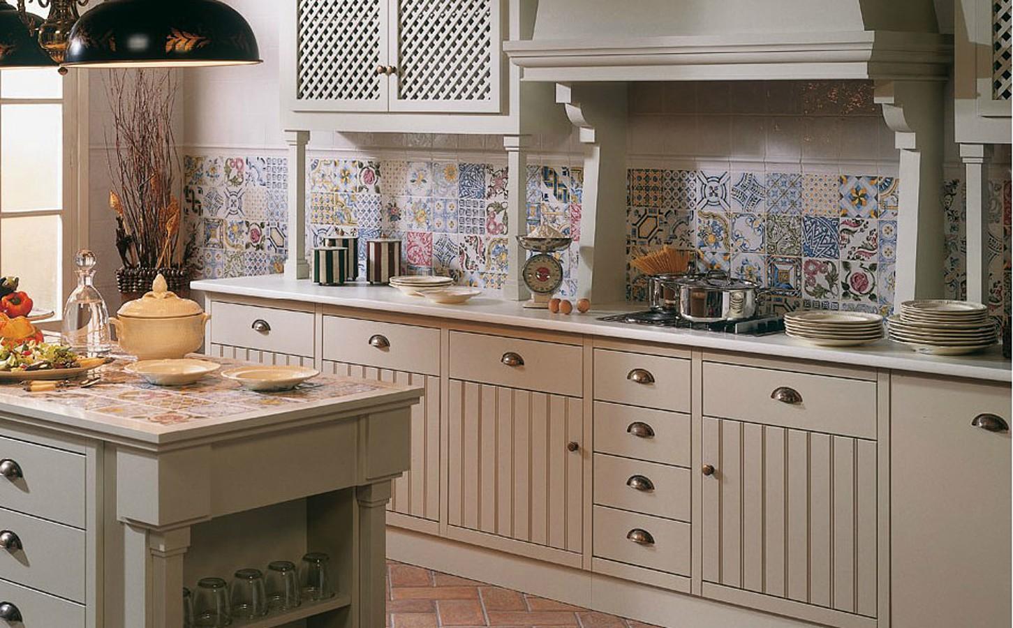 день стеновая панель кухни в стиле прованс фото положил