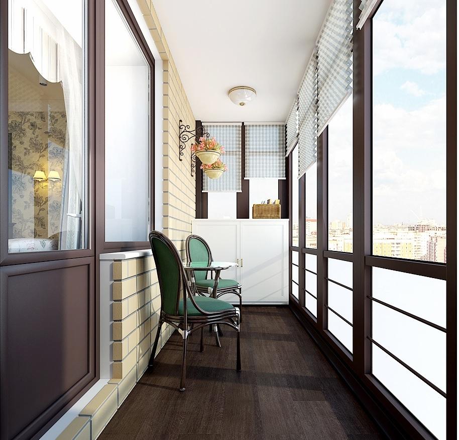 дизайн обои на балконе фото
