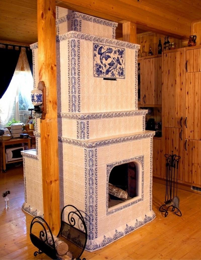 Дизайн печки в частном доме своими руками 66