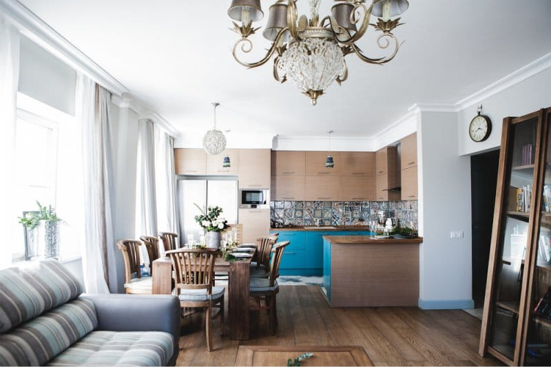 как отделить кухню от комнаты в квартире студии 38 фото виды