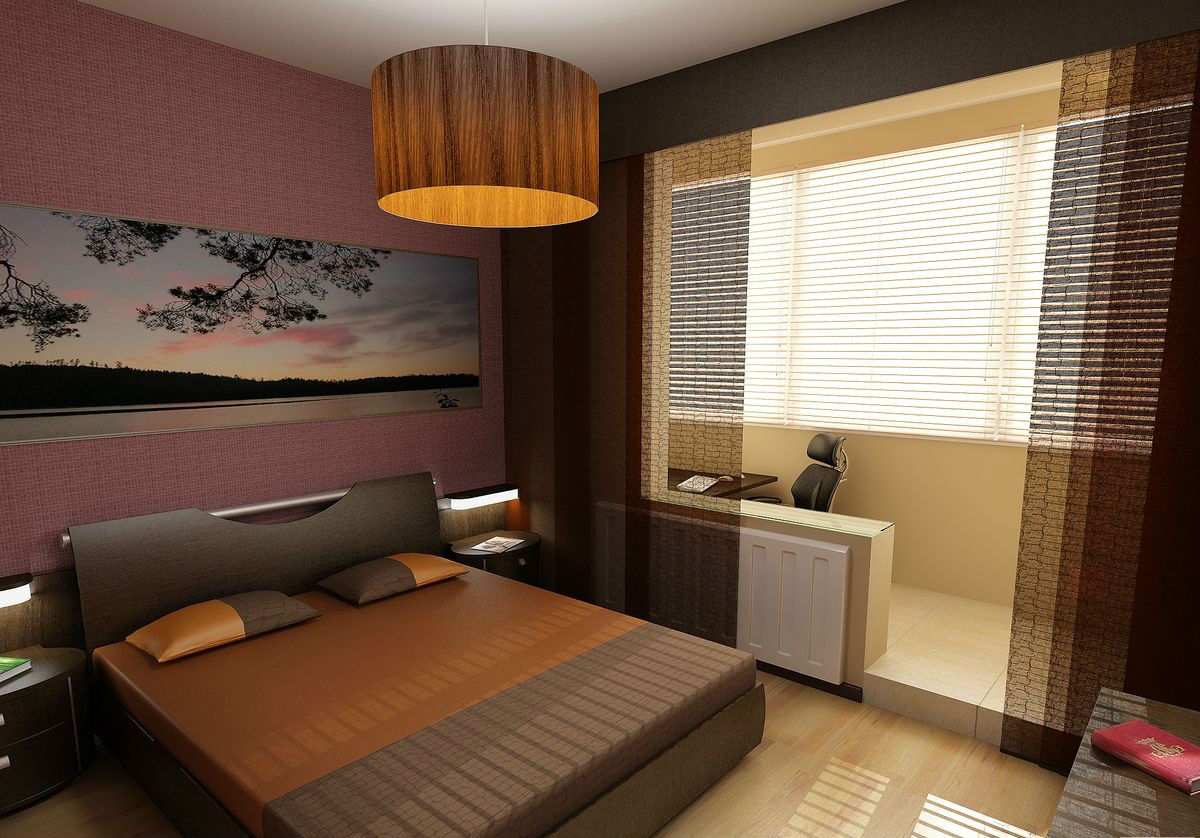 балкон совмещенный со спальней фото