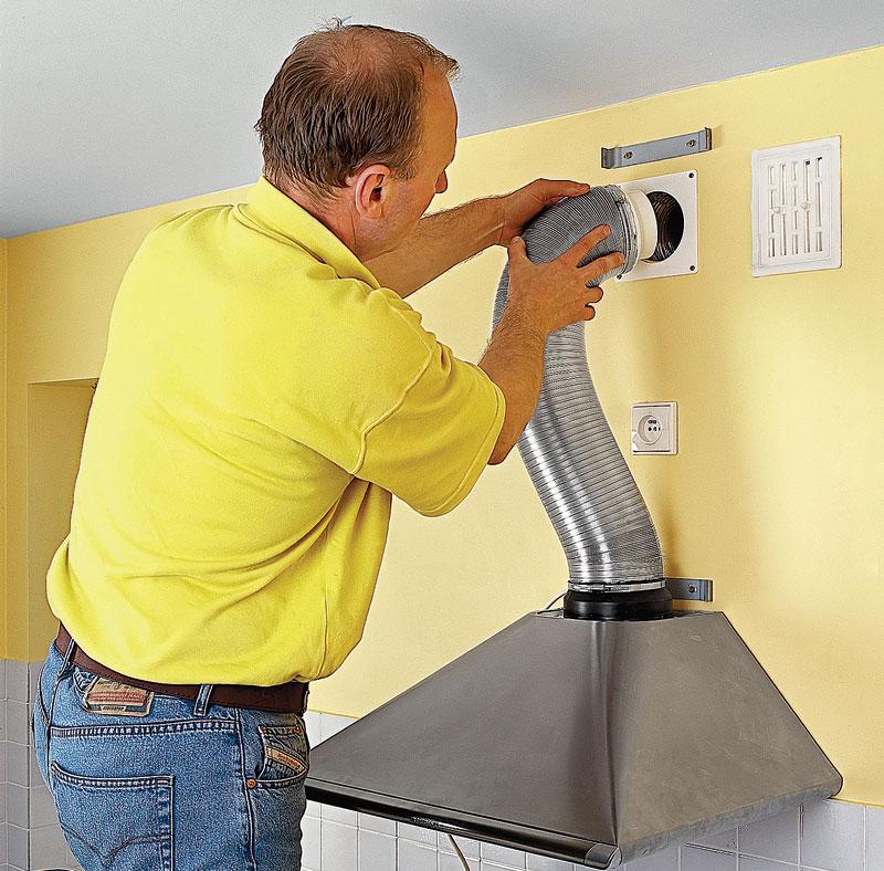 Как установить вытяжку на кухне своими руками фото 77