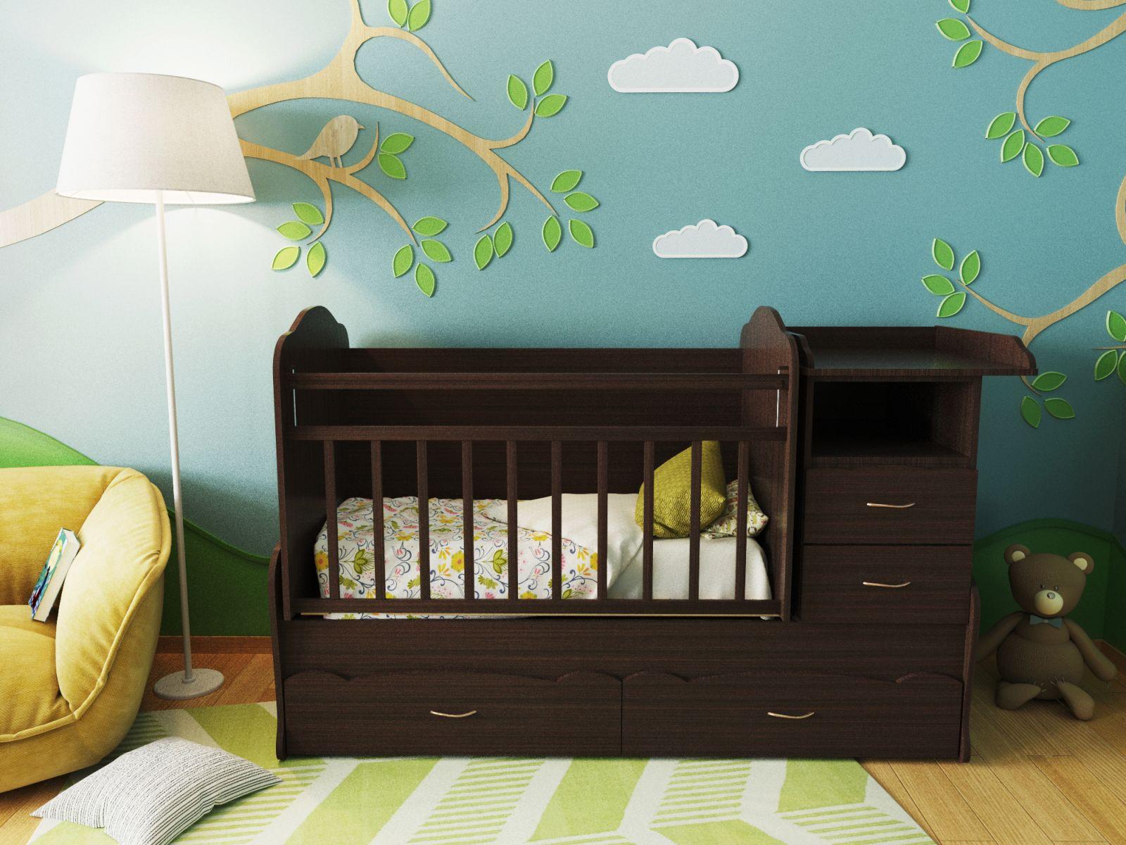 Ее главное преимущество – это сочетание в себе нескольких предметов, необходимых при уходе за младенцем.