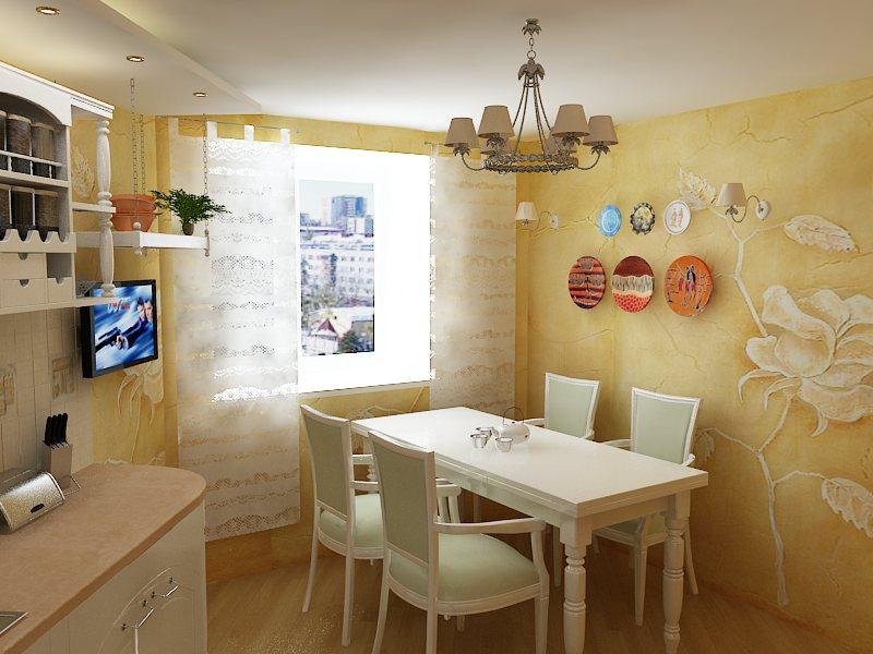 Декоративная штукатурка фото в интерьере кухни фото